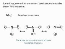 Embedded thumbnail for Drawing Lewis Structures: Resonance Structures - NO3 & SO2