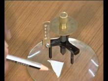 Embedded thumbnail for The radius of curvature of a spherical surface by a spherometer