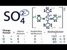 Embedded thumbnail for How to Draw the Lewis Structure for SO4 2- (Sulfate Ion)